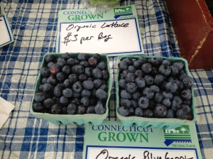 Blueberries at the Glastonbury Farmers Market